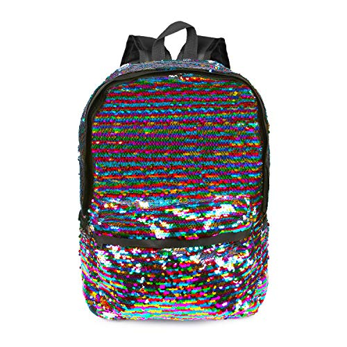 YouthUnion Zaino Scuola Paillettes Magiche, Zaini Light Travel Travel Zaini Lucidi Reversibili Per Ragazze Studentesche (Colour 2)