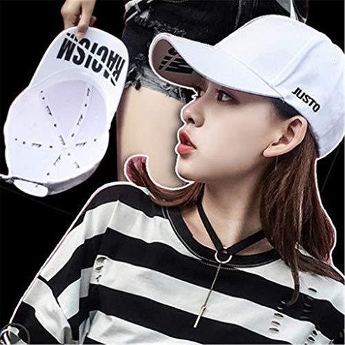 Kostüm Thailand Und Weibliche Für Männliche - Hut weiblich Kappe lässig Wilde Straße Paar Student männlich Sonnenschutz Baseball Cap weiß einstellbar