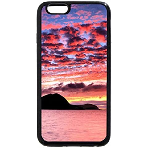 iPhone 6S Plus Case, iPhone 6 Plus Case, Mountain Silhouette and Sunset Clouds
