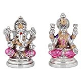 Jewel99 Silver Platinum Plated Laxmi Ganesh Religious Idol