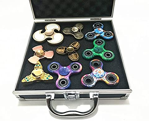 Fidget Toy Storage Case Hand Spinner Box - Aluminum 225x225X60mm
