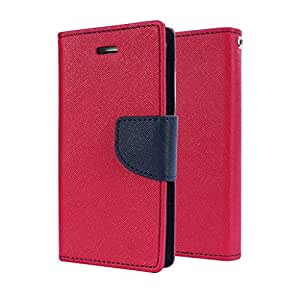 SCHOFIC Premium Fancy Wallet Diary Faux Leather Mobile Flip Case Cover [Pouch] with Card Slots [POCKETS] , Stand View and Magnetic Strap [LOCKING] for Samsung GALAXY S7 Plus -Pink
