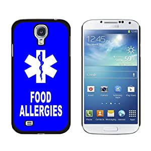 Graphics and More Food Allergies-Medical Emergency-Star of Life Snap-On Hard Protective Case for Samsung Galaxy S4 - Non-Retail Packaging - Black