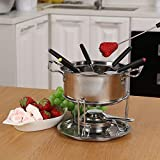fondue set cheese Stainless steel of 6 forks/ DIY chocolate fondue set silver / Meat Fondue Sets