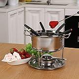 Fondue set roestvrij staal Cheese roestvrij staal van 6 vorken/DIY fondue set Chocolate Zilver - 3
