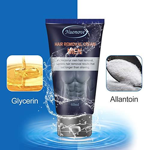 Crema Depilatoria Uomo, Crema Depilatoria, Hair Removal Cream, Crema Depilatoria per uomo, Indolore Crema Di Rimozione, 60ml,...