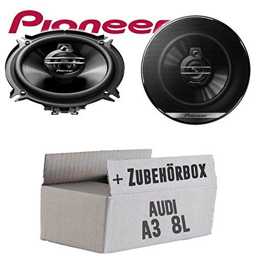 Lautsprecher Boxen Pioneer TS-G1330F - 13cm 3-Wege 130mm Triaxe 250W Auto Einbausatz - Einbauset für Audi A3 8L - JUST SOUND best choice for caraudio