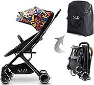 Teknum Travel Lite Shock Proof Stroller SLD  Extra Wide Seat  Single Hand Fold  360° Rotating Wheels  Air Trav