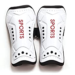 Shin Guard Pads - Sodial(r)1 Pair New Utility Competition Pro Soccer Shin Guard Pads Shin Guard Protector, White