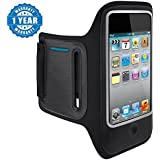 Drumstone Black Arm Band Universal Mobile Arm Band For Keeping Smartphones In Sports Running Jogging And Gym Compatible With Xiaomi Mi, Apple, Samsung, Sony, Lenovo, Oppo, Vivo Smartphones (1 Year Warranty)