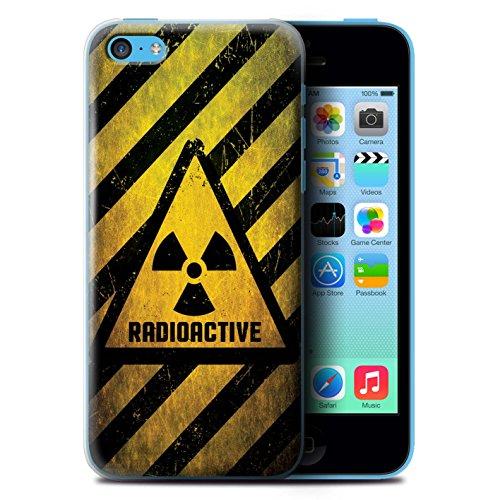 KOBALT® Hülle Case für Apple iPhone 5C | Hochspannung/Strom Entwurf | Warnung Zeichen Kollektion Strahlung