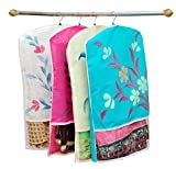 Yellow Weaves Non-Woven Hanging Saree Cover(26X18.5-inches, Multicolour) - Set of 12