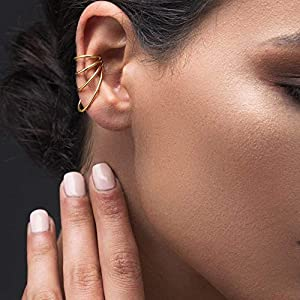 925er Dreifachreifen Ohrstulpe aus Sterling silber, ohr manschette für nicht durchbohrtes Ohr, griechischer…
