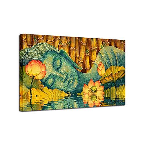 KYJDecor Wandmalerei Poster fertig zum Aufhängen Leinwand Schlafender Buddha für Wohnzimmer Dekoration Dekoration Leinwand Gemälde Druck Geschenk