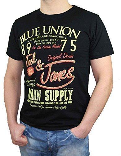 Jack & Jones Herren T-Shirt Shirt Intel Schwarz oder Blau Schwarz