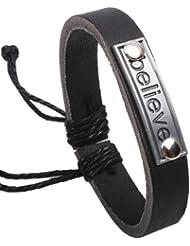 SUYA pulseras,3pcs, aleación de pulsera de piel de vaca, joyería personalizada, joyería, pulsera creativa, regalos creativos , black
