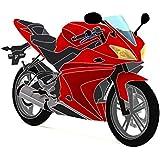 Jeu de carénage complet Yamaha YZF-R125 08-13 (20 pièces) rouge/noir