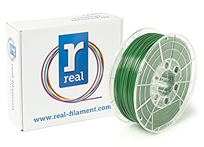 Real Filament 8719128321424 Real PETG, Spool of 1 kg, 1.75 mm, Opaque Green