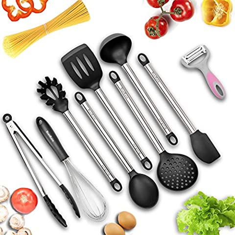 Kitchen Tools, BravRain 8 Piece Kitchen Utensils, Nonstick Cooking Tools,