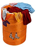 #7: Multipurpose Foldable & Collapsible 50-Litre Pop-Up Laundry Bag Basket with Zippered Lid and Carry Handle