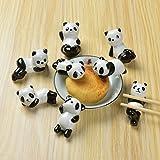 NNNKO 8 Pz/set Carino Panda Bacchette di ceramica Poggia Rack Animali Cinesi Cucchiai Bacchette Titolare Forcella