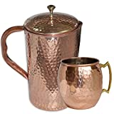 AsiaCraft Pure Copper Hammered Jug with ...