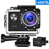 Victure Sports Action Camera WIFI 14MP Full HD 1080P...