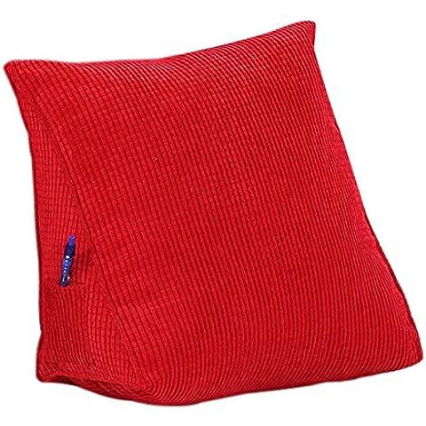 eonshine Fluffy Abajo Alternativa relleno triángulo cuña cojín de almohada para cama sofá respaldo lectura, pana, pack de