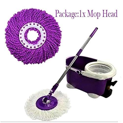 ST4U 1Pc 360 Grad drehbare Mikrofaser Ersatz Mop Kopf Einfacher Magic Kitchen Badezimmer Bodenreinigung Schrubber Heads Haushaltszubehör lila