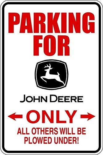 wandaufkleber 3d schlafzimmer vinyl decal quote Art Parking For John Deere Only for living room home décor (John Deere Parking)