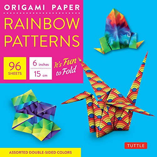 Origami paper rainbow patterns 6