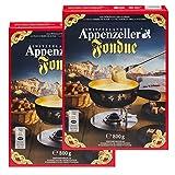 Fondue-Käse 'Appenzeller' - 2x800g würziger, aromatischer Käse aus der Schweiz als cremiges Fondue