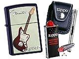 Zippo Fender Jaguar + Zippo POUCH mit Zippo Zubehör und L.B Chrome Stabfeuerzeug (mit LOOP Black Pouch)