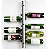 Pixnor Botellero Estante Botellero colocado vino estante barra de acero inoxidable de pared cocina titular 12 agujeros