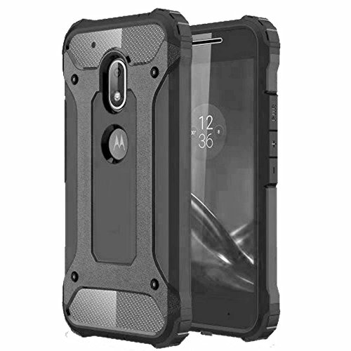 NORBY NB-AB-MG4P-GR Back Case Cover For Motorola Moto G4 Plus (Grey)