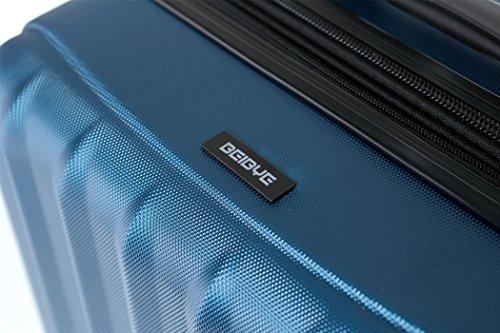TSA-Schloß 2080 Hangepäck Zwillingsrollen neu Reisekoffer Koffer Trolley Hartschale XL-L-M(Boardcase) in 12 Farben (Blau, Set) - 2