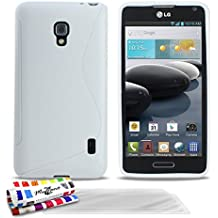 Muzzano Le S - Funda para LG Optimus F6 + 3 protecciones de pantalla, color
