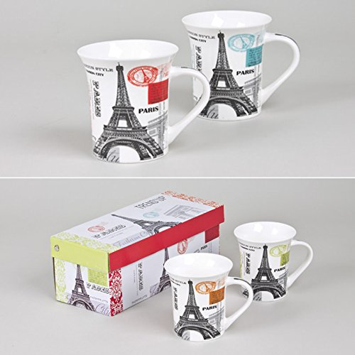 Coffret 2 mugs Paris