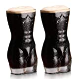 WSHP-Mug Env Taza Gift 2 Unids Sexy Lady Men Durable Vasos De Whisky De Doble Pared Vaso De Chupito De Vino Cofre Grande Cerveza 400Ml