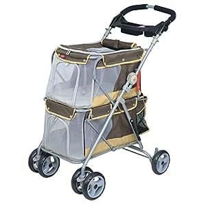 hundebuggy pet stroller wagen double f r tiere bis 25 kg haustier. Black Bedroom Furniture Sets. Home Design Ideas