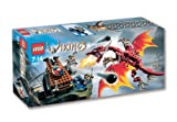 Lego-Wikinger-7017-Katapult-und-Drache
