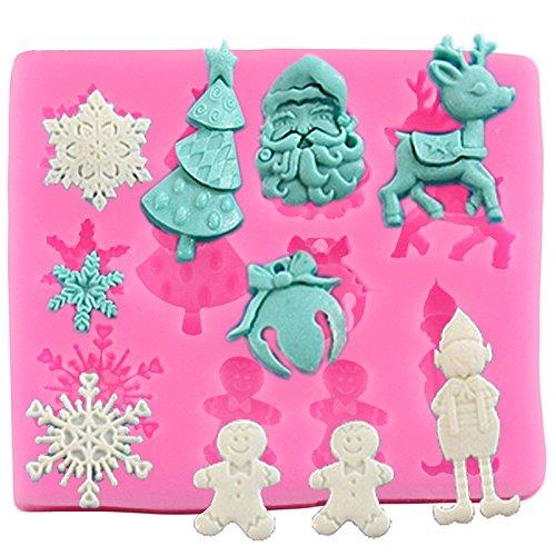 Molde de silicona para fondant de Navidad