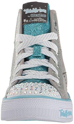 Skechers Shuffles Doily Dance Toile Baskets Gray/Light Blue