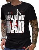 HARIZ  The Walking Dad T-Shirt // Schwarz S-XXL (Herren) I Geschenk I Vatertag I #Papa Collection Schwarz L