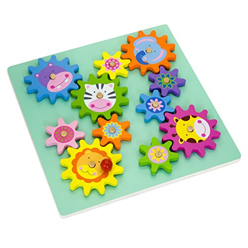 vortigern-51031-wooden-spinning-gears-cogs-puzzle-cute-animal-themed-activity