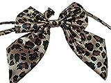 pour filles et femmes mode nœud en satin Cravate Cravate 15 + Couleurs déguisement fête : léopard, pointillé, rayures par fat-catz-copie-catz - Mesdames Animal cravate, 12.5cm x 11cm