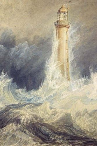 Bell Rock Lighthouse, William Turner: Journal (notebook, composition book) 160 Lined / ruled pages, 6x9 inch (15.24 x 22.86 cm) Laminated
