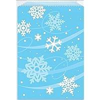 8 sacchetti per alimenti congelati di Natale, a forma di fiocco di neve per bambini, motivo: caramelle di carta da regalo, colore: