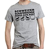 Siviwonder Schweizer SCHÄFERHUND Berger Blanc Suisse Weiß Weisser - Hören AUFS Wort Unisex T-Shirt Shirt Hunde Hund Sports Grey XL