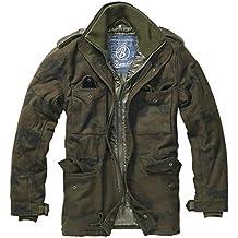 Brandit Hombres M-65 Voyager Lana Chaqueta Woodland tamaño L
